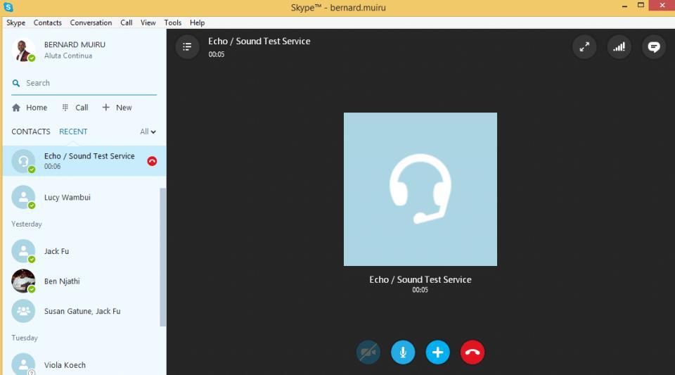 test microphone in Skype