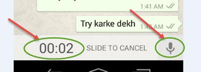 How to Send Voice Messages in Whatsapp