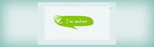 Skype online status ballon button in WordPress sidebar widget