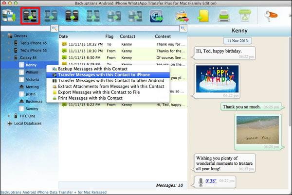 Transfer Android WhatsApp Chat History to iPhone on Mac