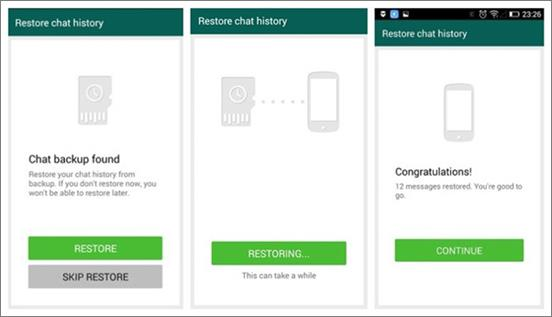 Restore WhatsApp Messages from Google Drive to Android