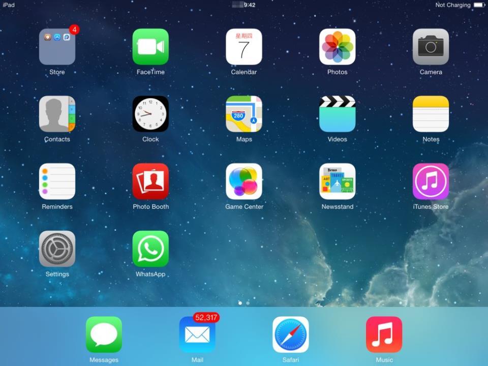 whatsapp on iPad screen