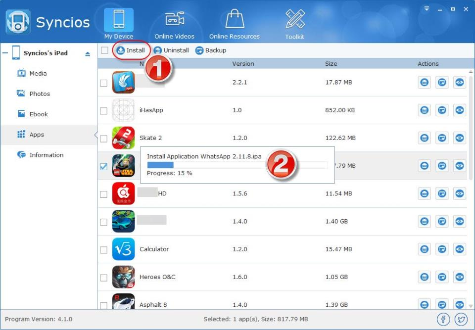 installing whatsapp to iPad