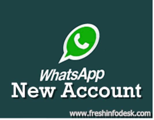 whatsapp new account