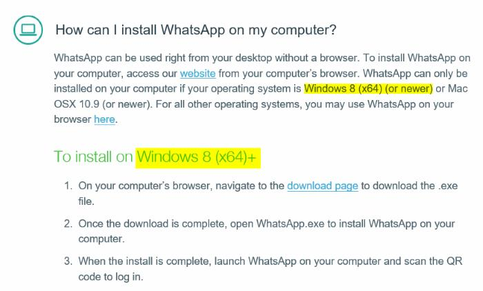 install Whatsapp desktop on Windows 7 picture1