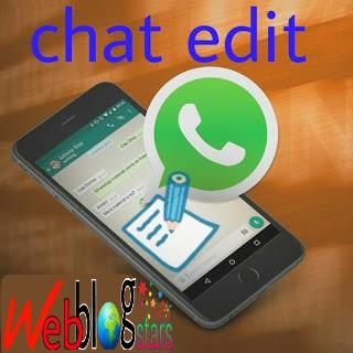 edit whatsapp chat, date and time