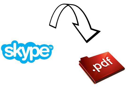 Skype to PDF