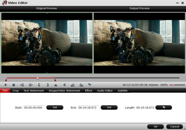 trim video files