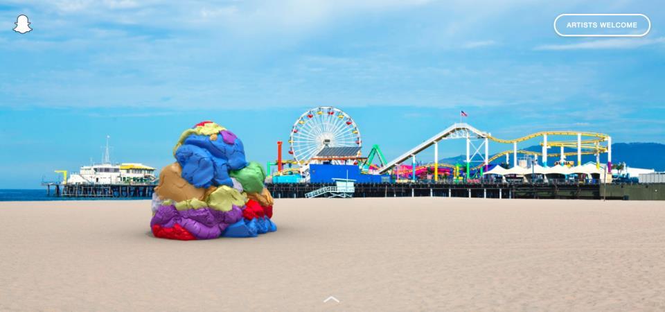 Snapchat art page beach
