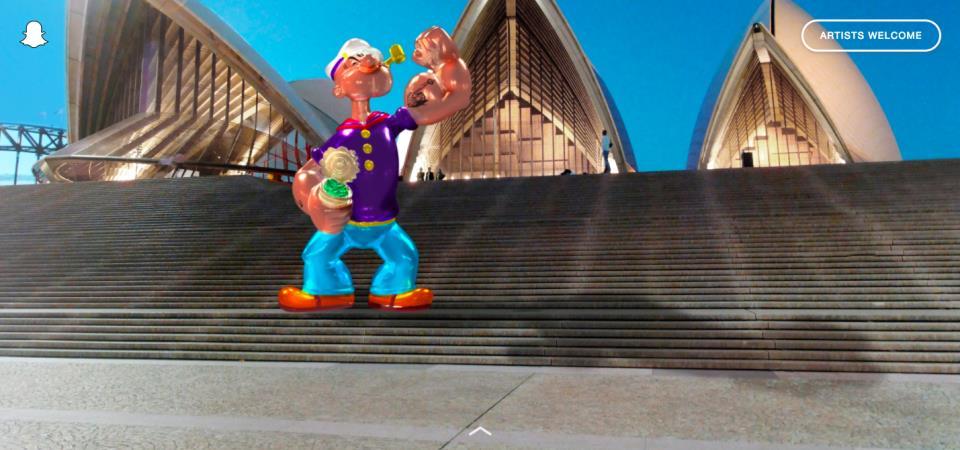 Snapchat art page Australia