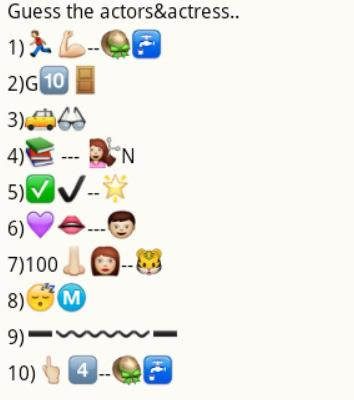crazy emoticon whatsapp group games