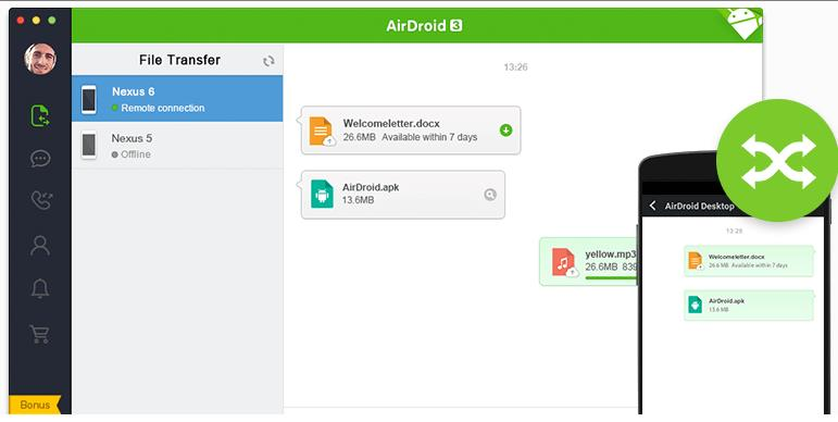 use whatsapp from PC airdroid