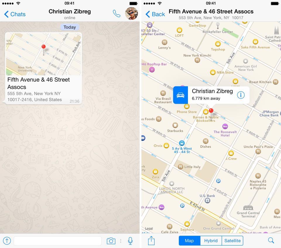 WhatsApp 2.12.5 for iOS iPhone screenshot 005
