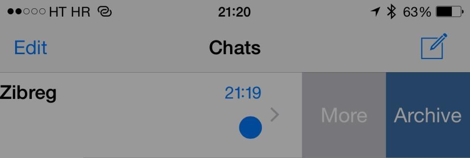 WhatsApp 2.12.5 for iOS iPhone screenshot 002