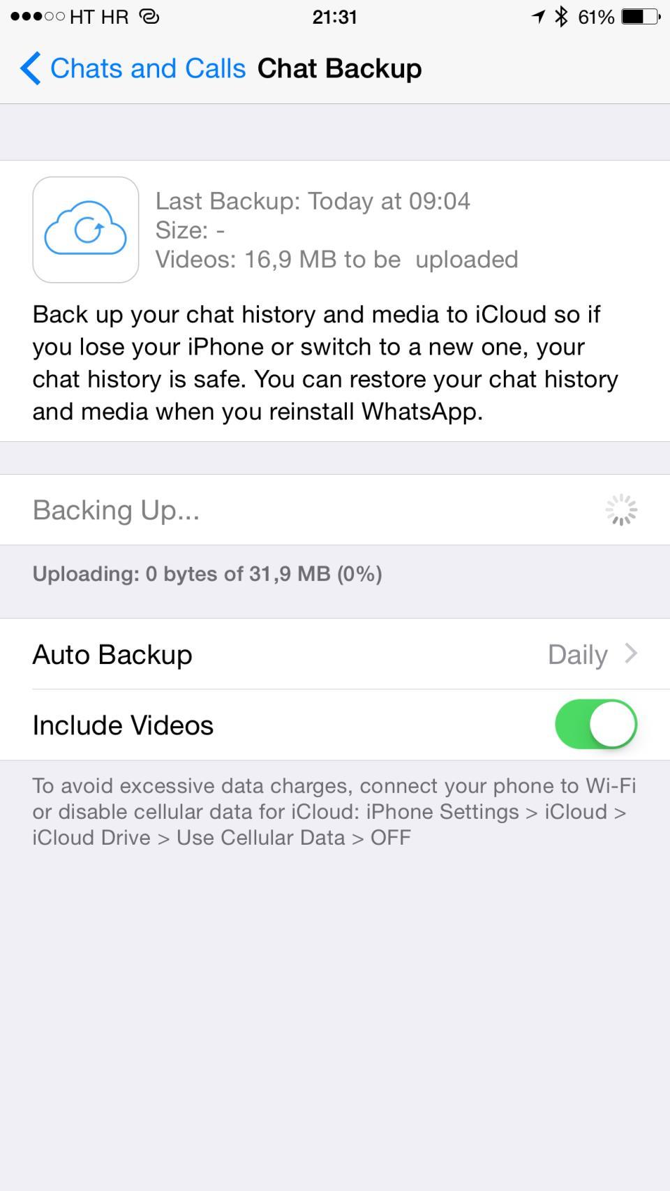 WhatsApp 2.12.5 for iOS iPhone screenshot 010