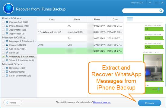 Jihosoft Free iTunes Backup Extractor