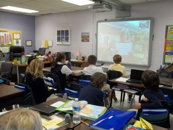 students skype with IWB