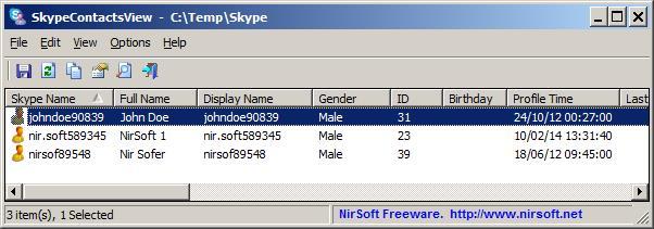 SkypeContactsView