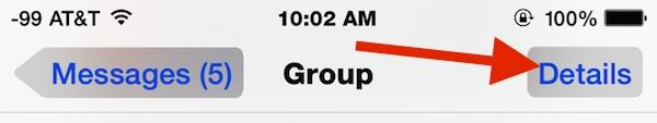 Details button in group Chat Messages