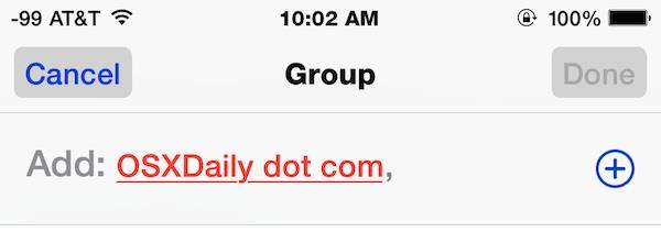 Adding this person to a group conversation in Messages for iOS