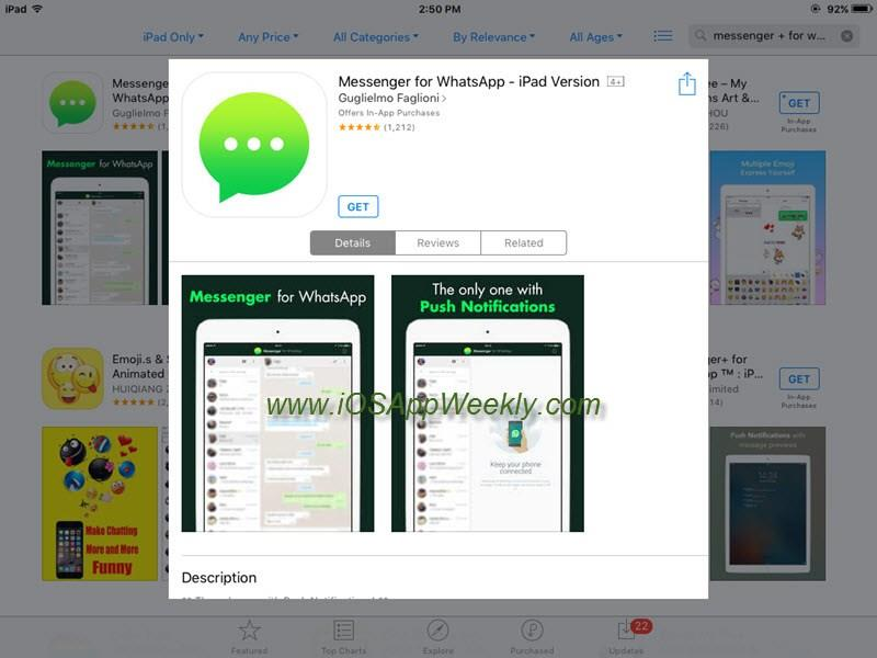 download messenger for whatsapp ipad version from app store