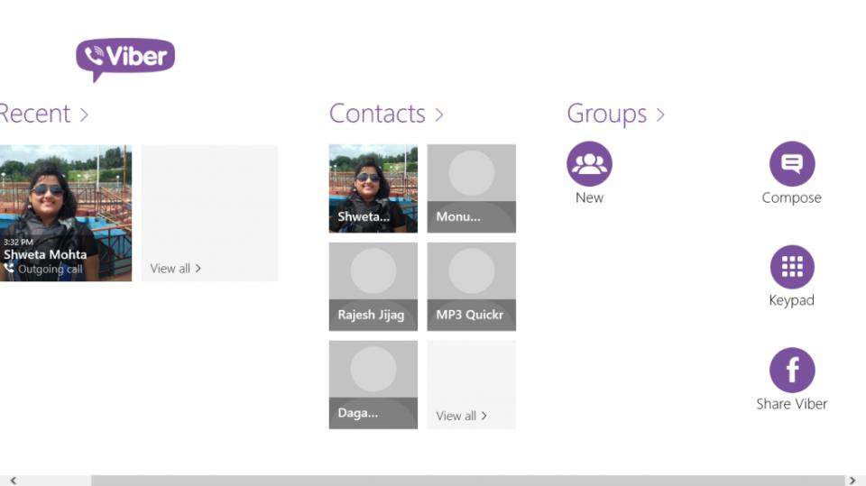 Viber Contacts for Windows 8