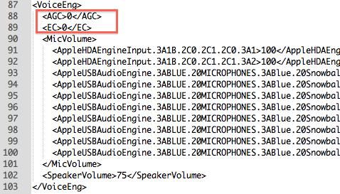 HTML code to disable AGC and EC in Skype