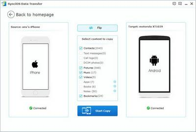 transfer data from iphone to OPPO F1/F1 Plus