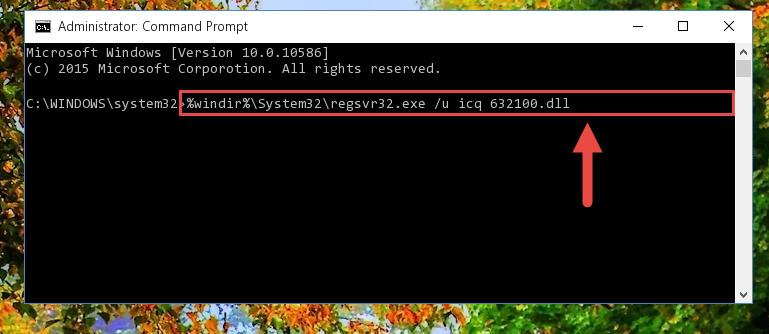 Uninstalling the Icq 632100.dll library from the system registry