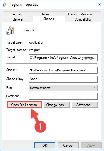 Finding the program's installation directory