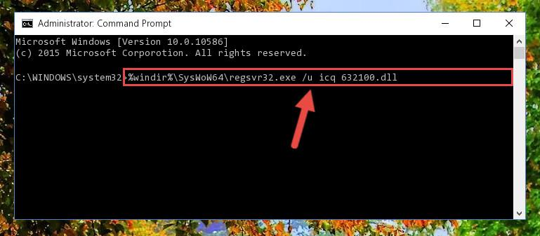 Uninstalling the broken registry of the Icq 632100.dll library from the Windows Registry Editor (for 64 Bit)