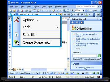 Skype Office Toolbar