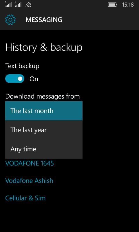 Backup Restore Windows 10 Mobile 5