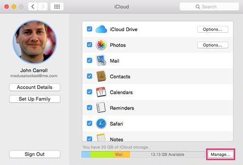 Macintosh iCloud System Preferences