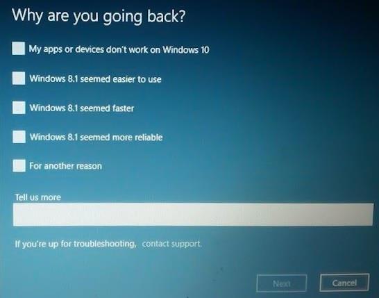 Rollback to Windows 10 ab