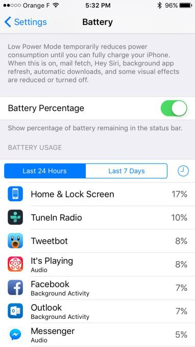 Facebook battery draing iPhone screenshot 001