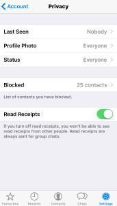 Whatsapp invisible