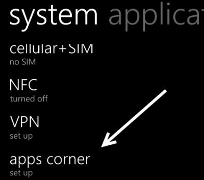 windows phone apps corner