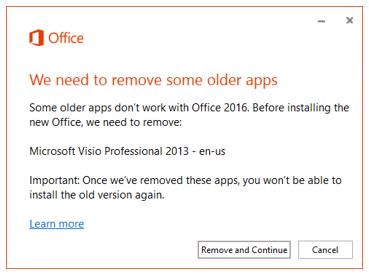 Older Apps - Office 2016