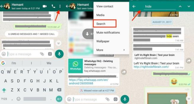 How To Search Whatsapp Messages on iPhone