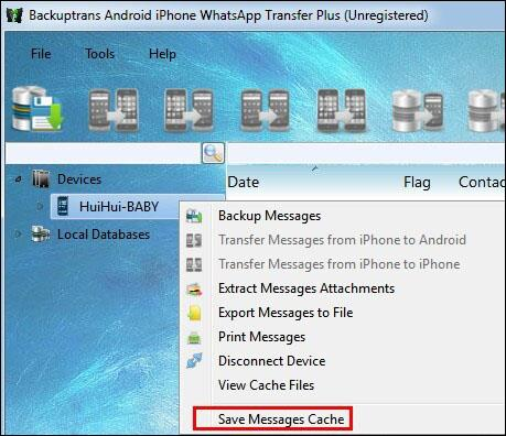 save message cache