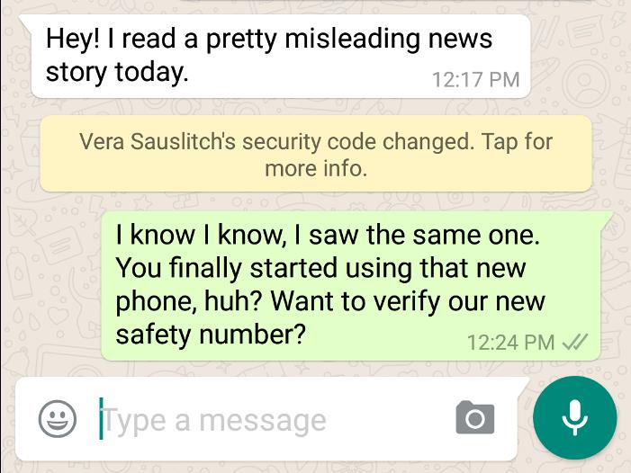 whatsapp keychange