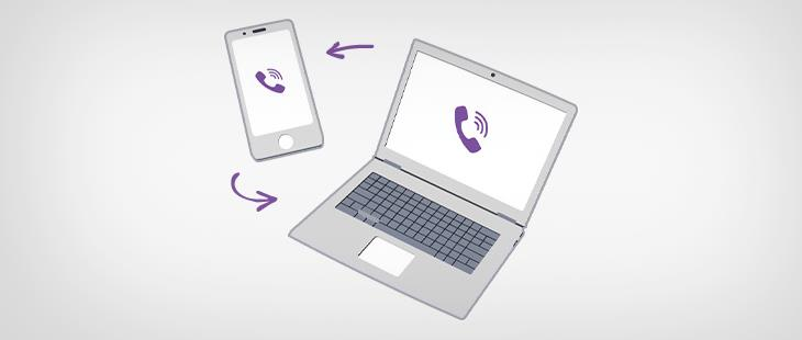 Viber for PC syncs with mobile app