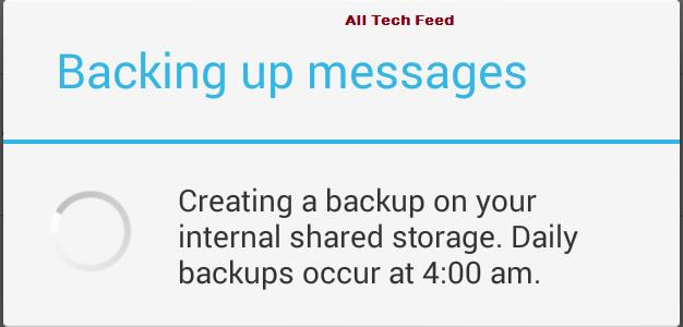 backup_to_recover deleted messages on whatsapp