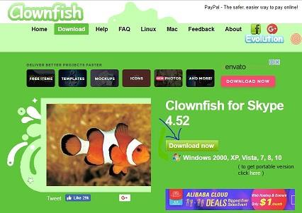Download Clownfish voice changer for Skype