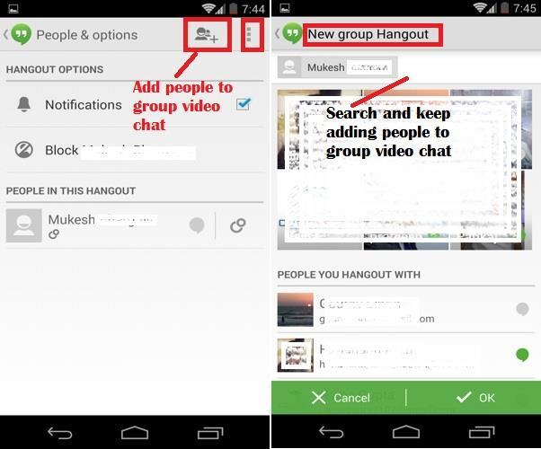 Hangout Group Video Calls