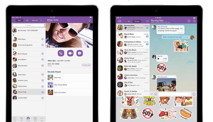 Viber 5.4.1 for iOS iPad screenshot 002