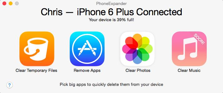 PhoneExpander for Mac Main menu