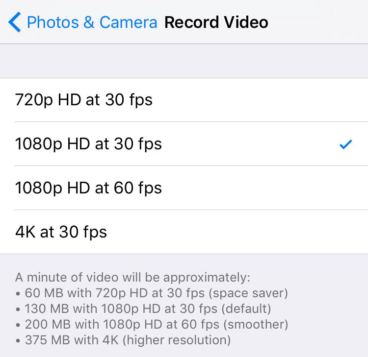 Disable 4K iPhone