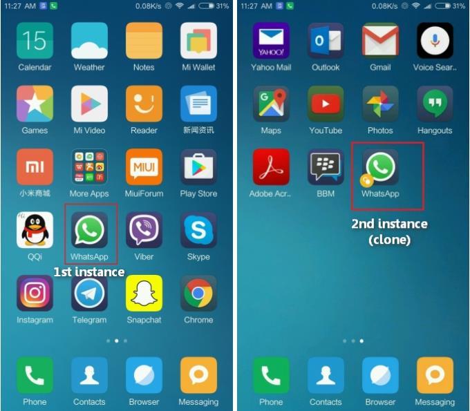 Cloned Whatsapp Icons